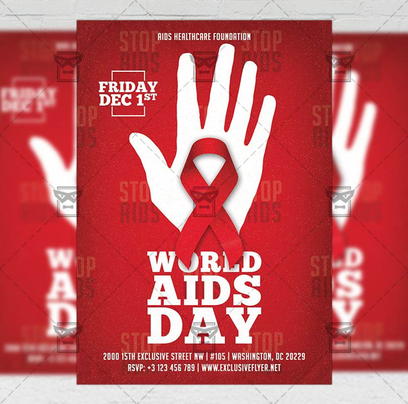 world aids day community a5 flyer template exclusiveflyer psd freeflyer freepsd