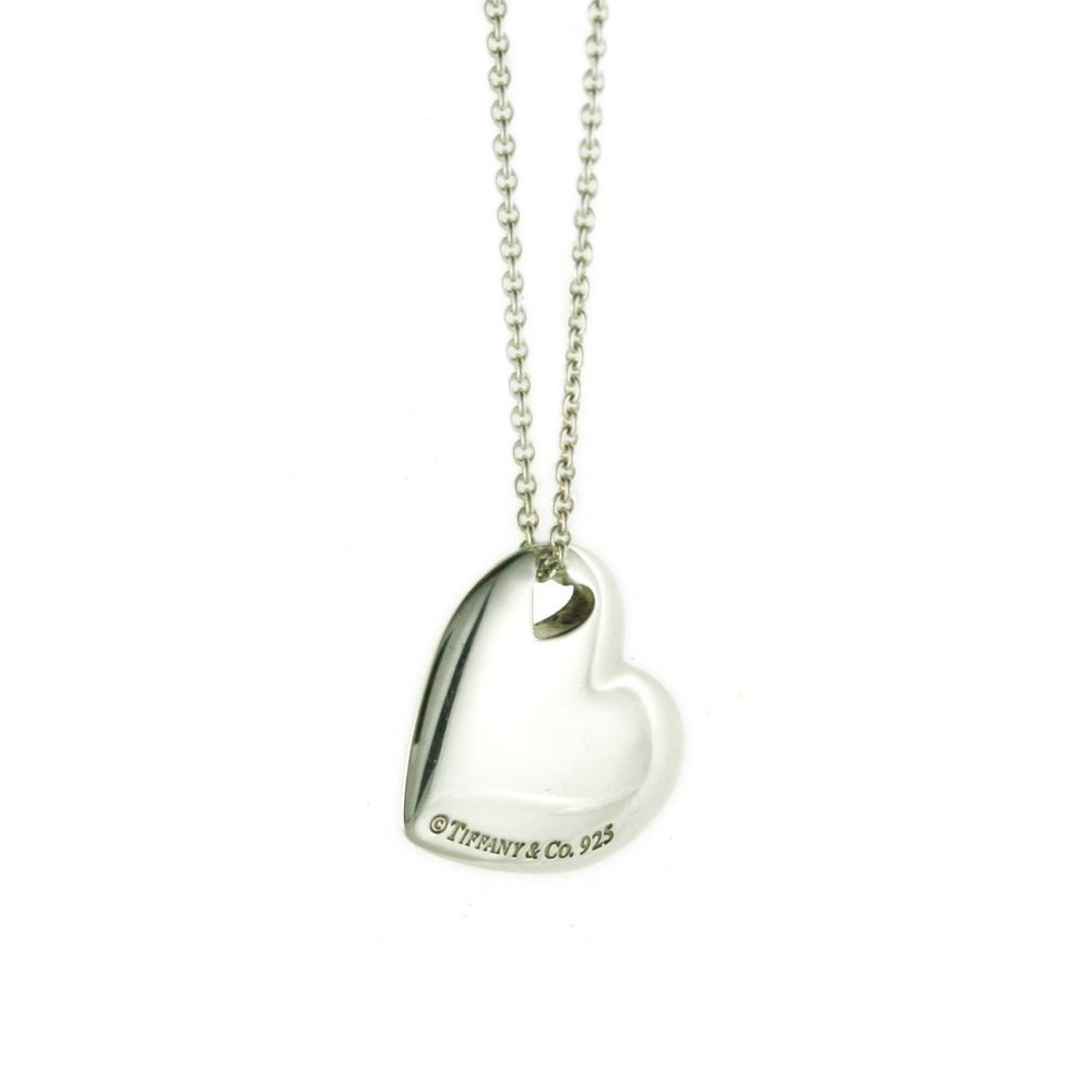 "Tiffany & Co. Heart Pendant on Chain in 925 Sterling Silver 16"" Necklace #TiffanyCo #Pendant"