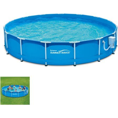 15' Metal Frame Pool Set, Blue