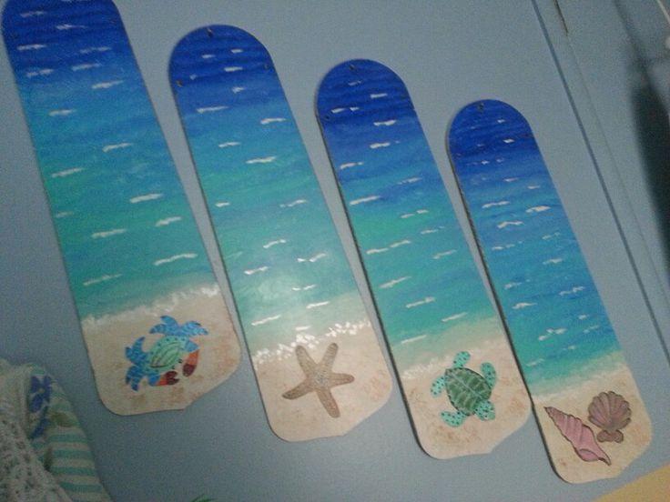 Ideas About Painted Fan Blades On Pinterest Fan Blades Ceiling Fan Fan Blade Art Ceiling Fan Crafts Ceiling Fan Art