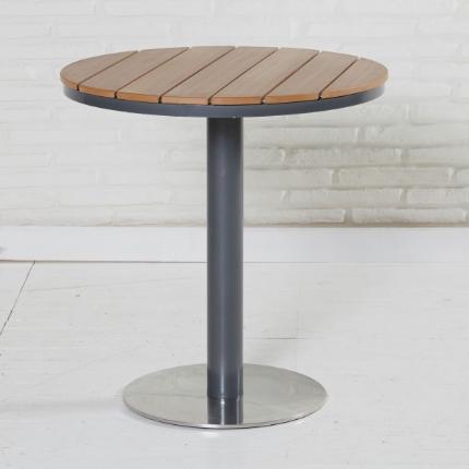 Bistrotisch Rund 70cm Gartenmobel Gartentisch Tisch Balkon Terrasse Polywood Metall Outdoor Bistrotisch Gartentisch Tisch