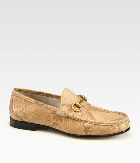 42939bb35a3b Love this  Green Python Horsebit Loafer  Lyst