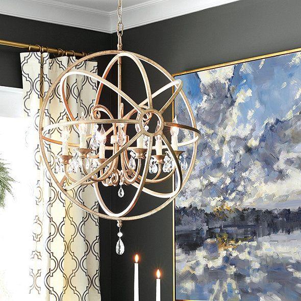 Photo of Nicolette crystal ball chandelier | Ballard designs