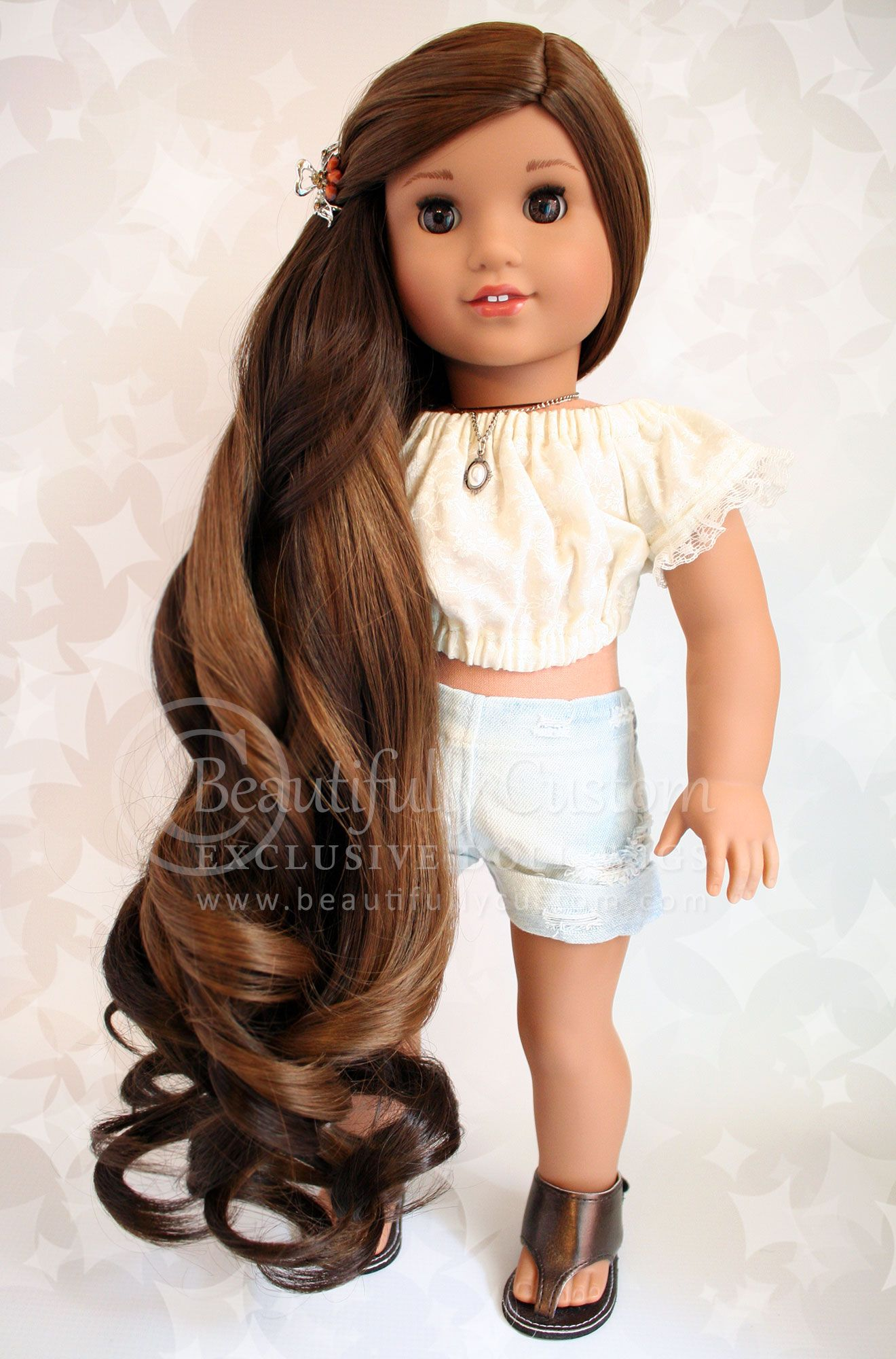Deluxe Majestic Wig Chocolate Mousse Size 11 18 Dolls Wigs