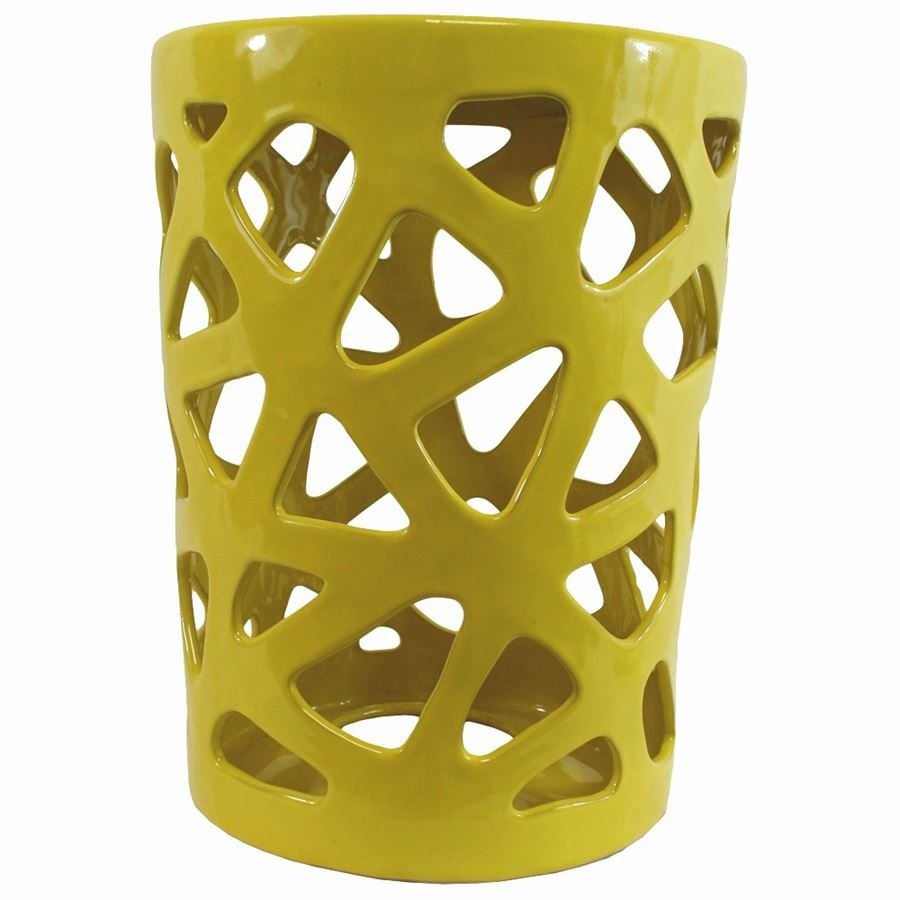 Captivating Yellow Ceramic Garden Stool I NEED This For Our Bedroom!