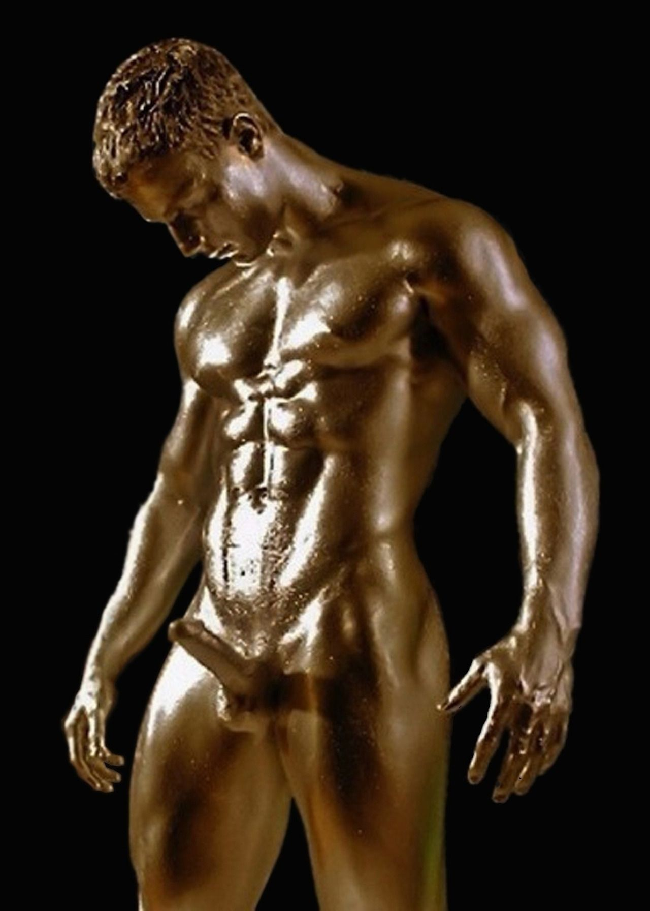Golden Erection  Black And Gold  Pinterest  Body -7498