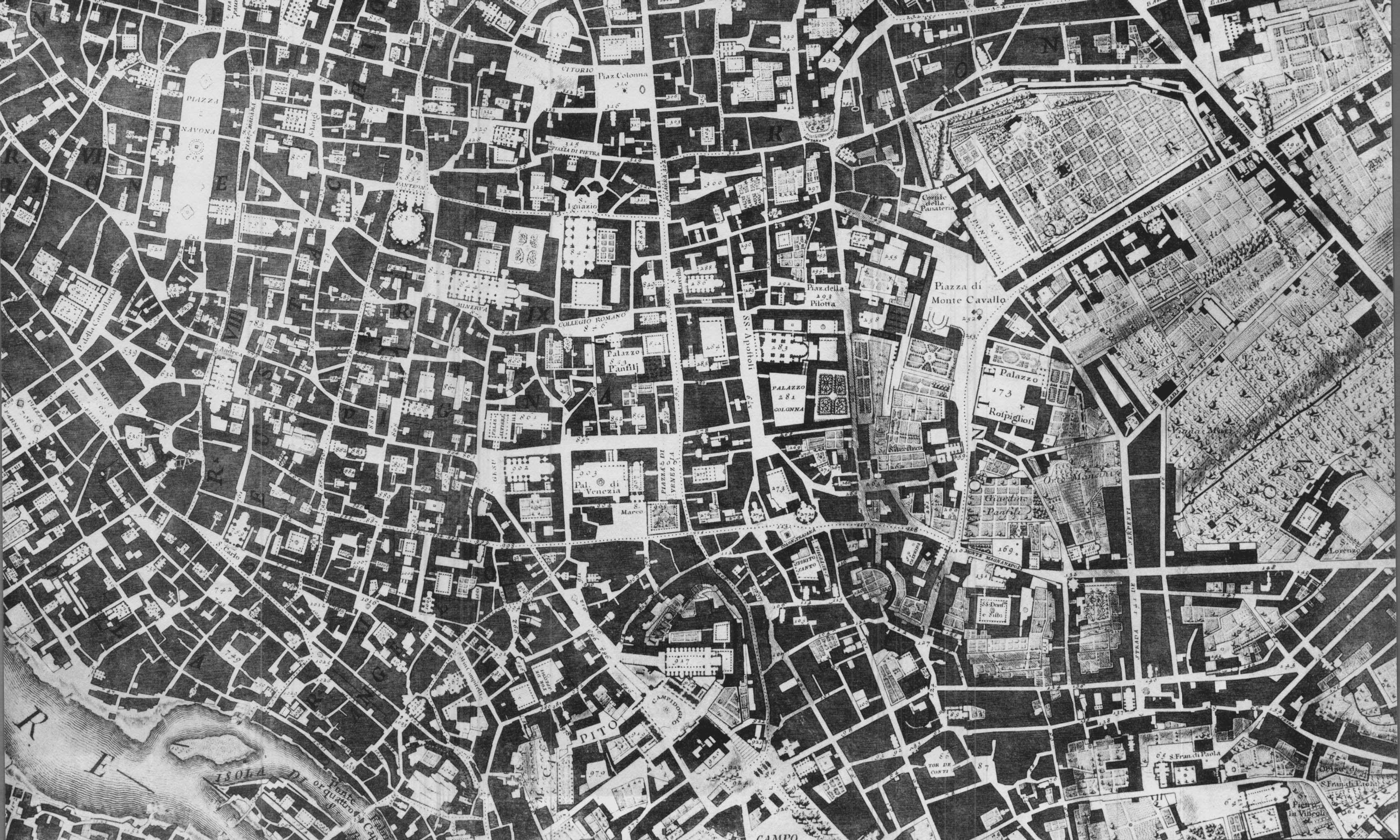Nollis Kort Over Rom Landskab Kort