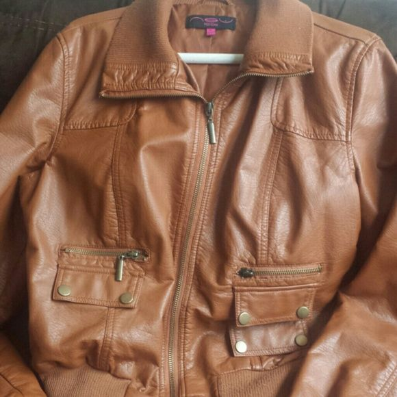 Leather Jacket Chestnut leather jacket in great condition Jackets & Coats