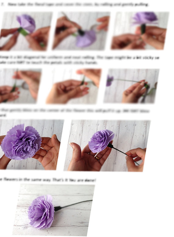 Paper Craft Pdf Pattern Diy Paper Flowers Diy Craft Tutorial