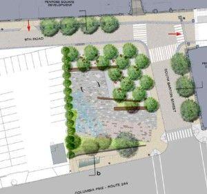 Rendering Of The Future Penrose Square Public Plaza On Columbia Pike Urban Landscape Design Parking Design Plaza Design