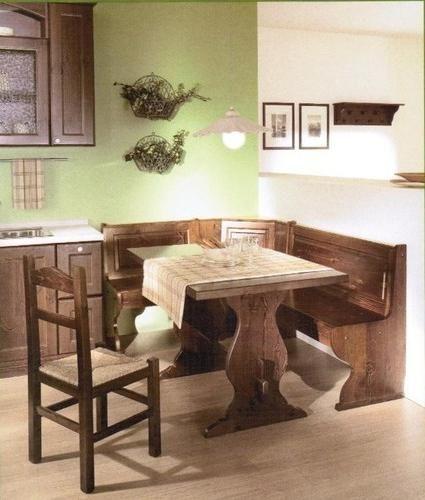 Giropanca color noce, Tavolo e sedie. Tutto nuovo e di