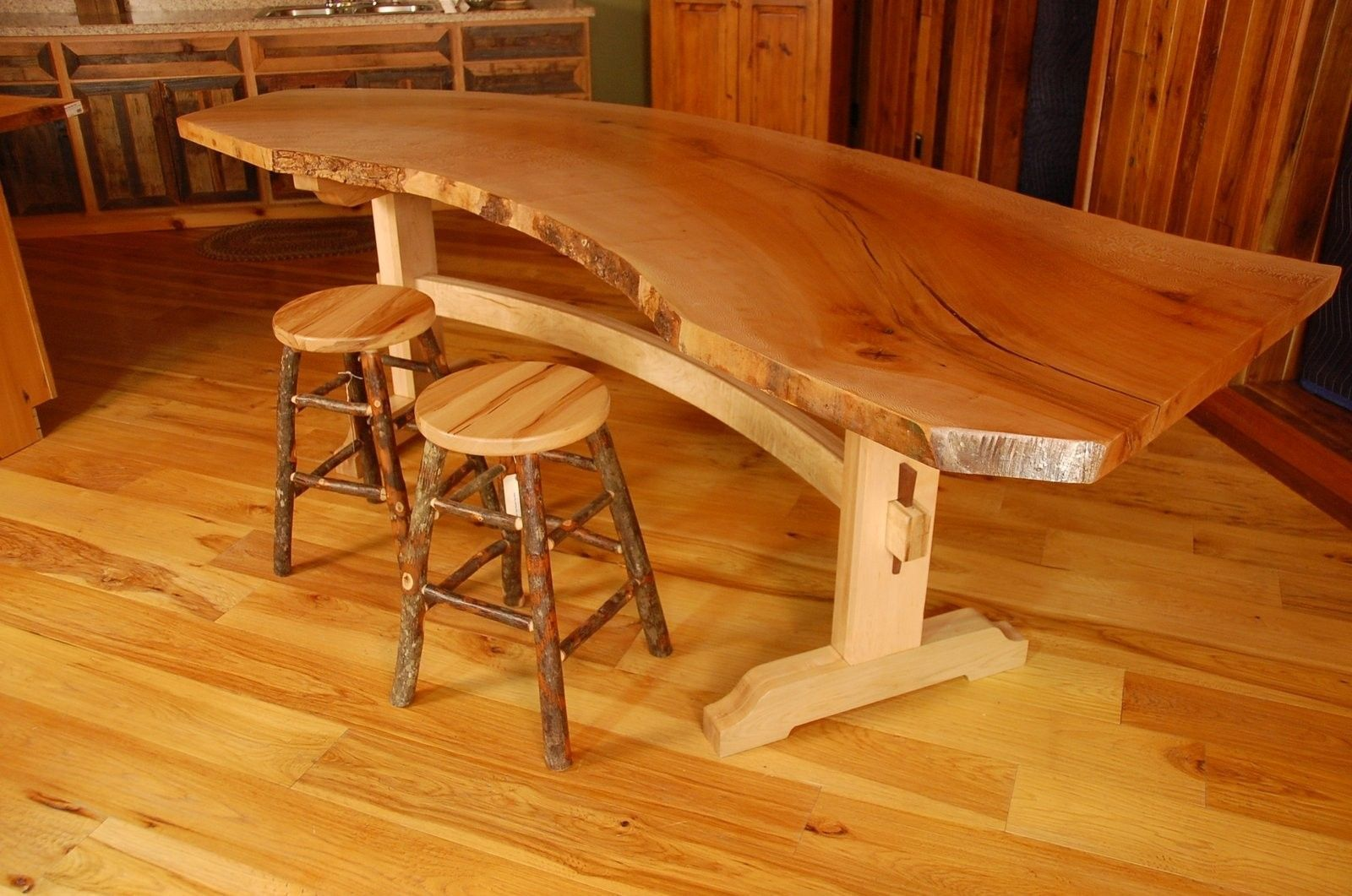 handmade sycamore live edge slab dining table by corey morgan wood works. Black Bedroom Furniture Sets. Home Design Ideas