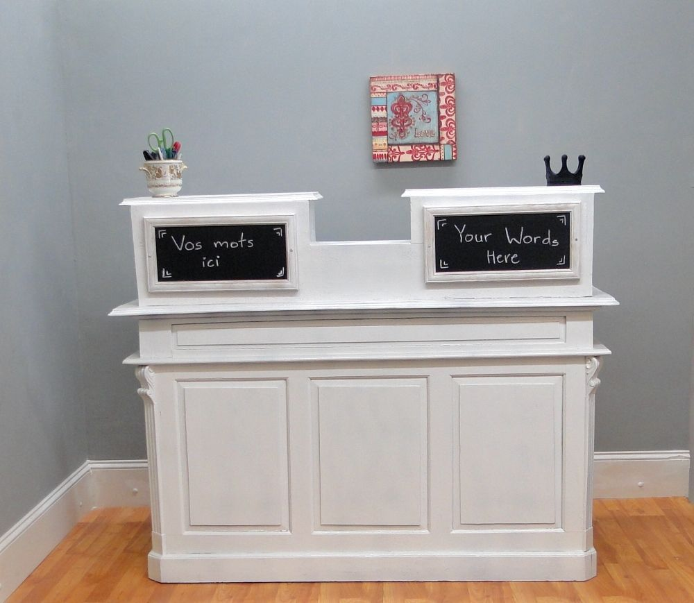 STORE COUNTER Antique FRENCH old restaurant desk reception cottage chic  shabby - STORE COUNTER Antique FRENCH Old Restaurant Desk Reception Cottage