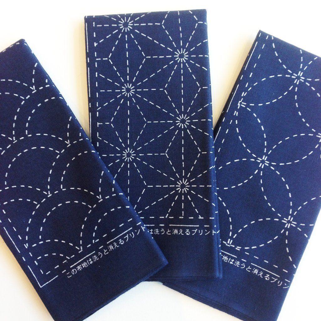 Sashiko embroidery cloth navy brazilian embroidery pinterest