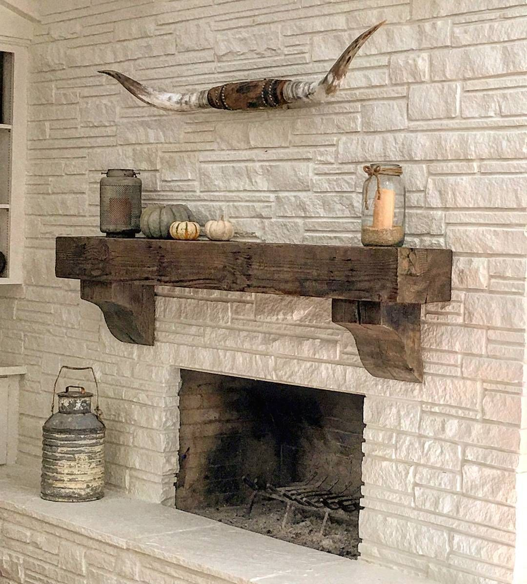 This Reclaimed Wood Beam Made For A Nice Mantle In This