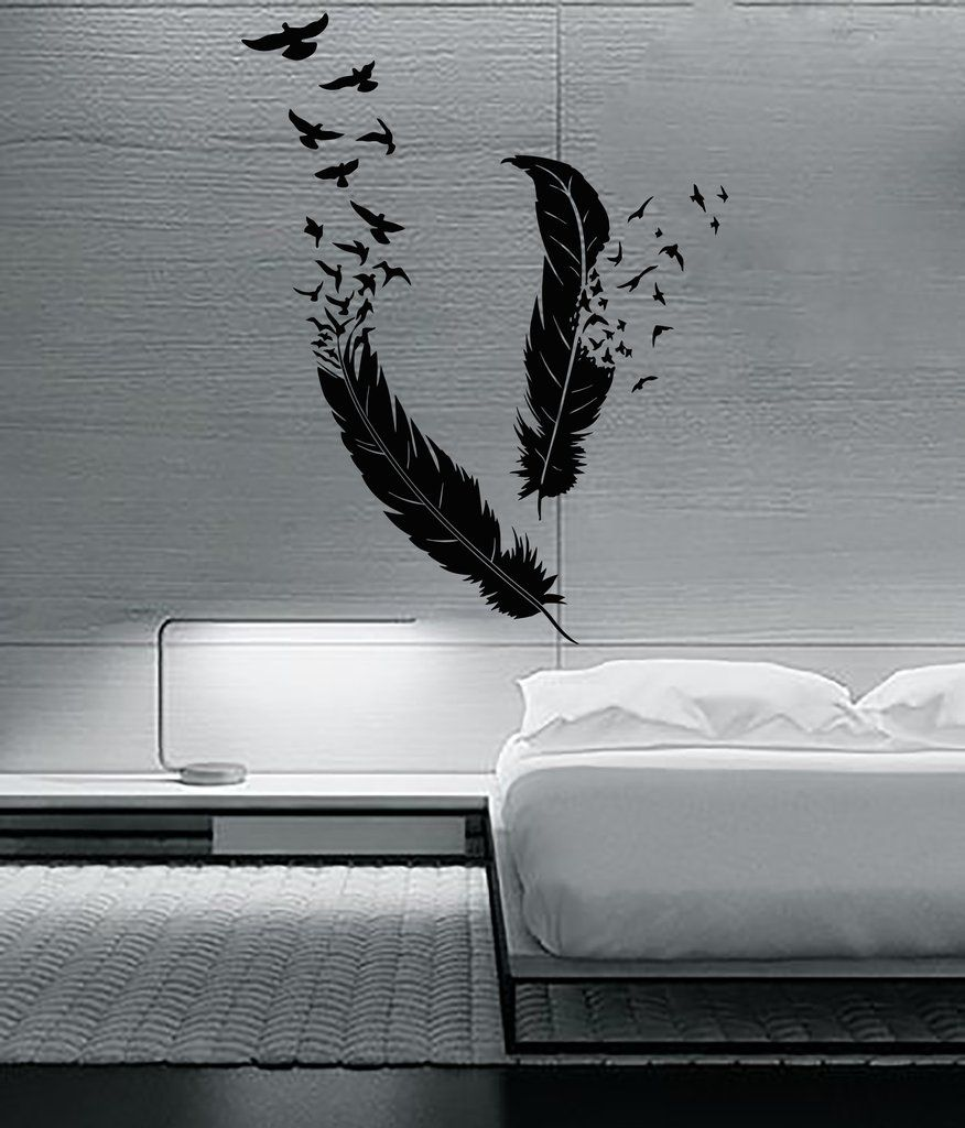 Wall sticker birds flying of feather beautiful decor for your
