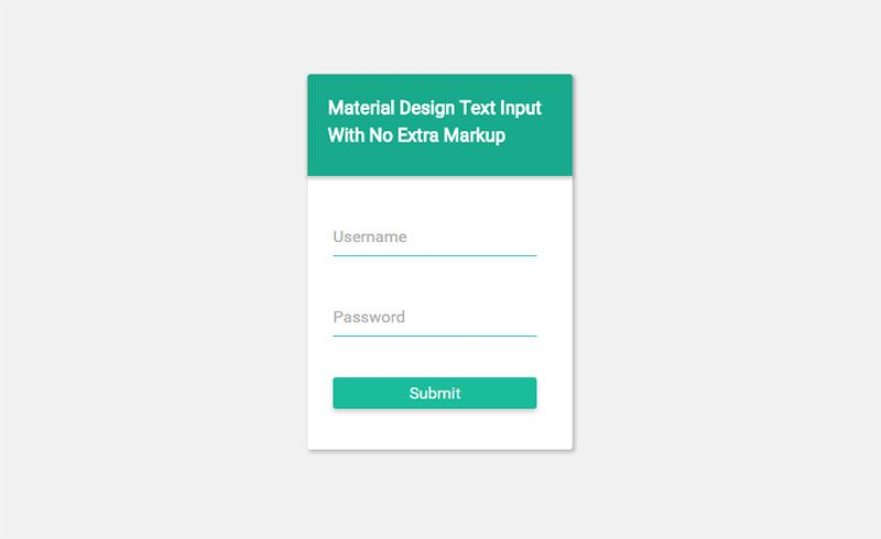 How To Create A Beautiful Material Design Login Form With Html