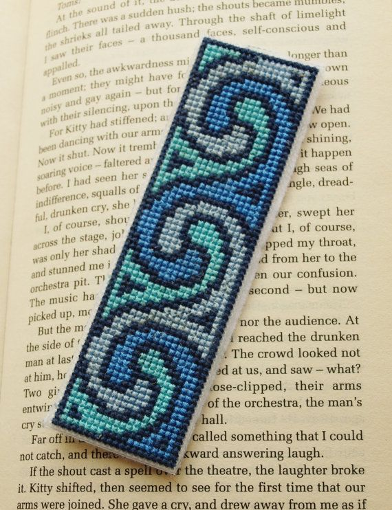 Photo of #completed #bookmark #grecian #stitch #cross #waves