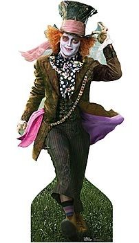 Mad Hatter Standee - Props available for hire from Party Prop Hire