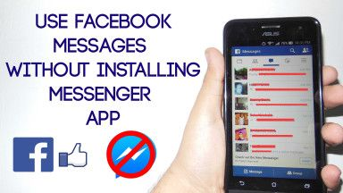 Send Facebook Messages without Messenger App