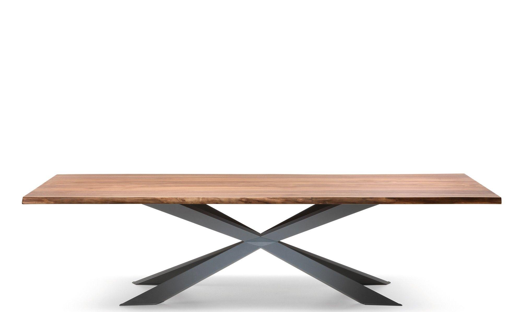 Cattelan Italia Spyder Wood   300cm X 120cm Dining Table Matt Graphite Base
