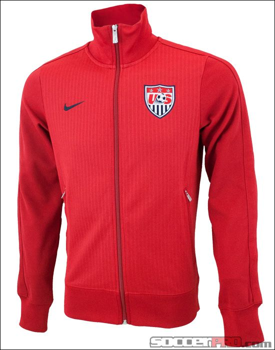 Nike USA Authentic N98 Track Jacket Varsity Red with Dark