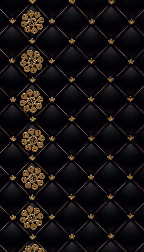 Golden Is The New Black Gold Aesthetic Filigree Pattern