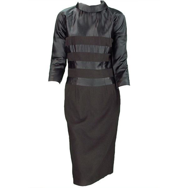 Pattullo-Jo Copeland - Pattullo-Jo Copeland silk and wool dress 1940s ❤ liked on Polyvore