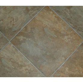 Style Selections 18 In X Sedona Slate Cedar Glazed Porcelain Floor Tile For The Kitchen Ended Up Not Using This Too Reddish