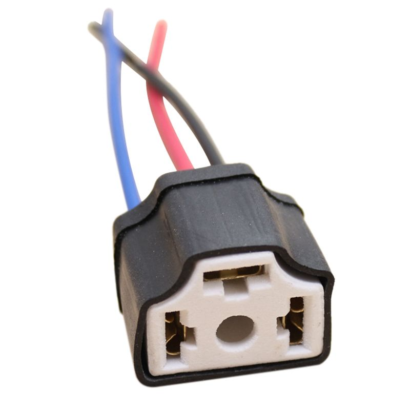 1pcs H4 9003 Ceramic Wire Wiring Car Truck Headlight Bulb Harness Socket Plug Lamp Bulb Wire Harness Socket Electronic Accessories Car Electronics Cars Trucks