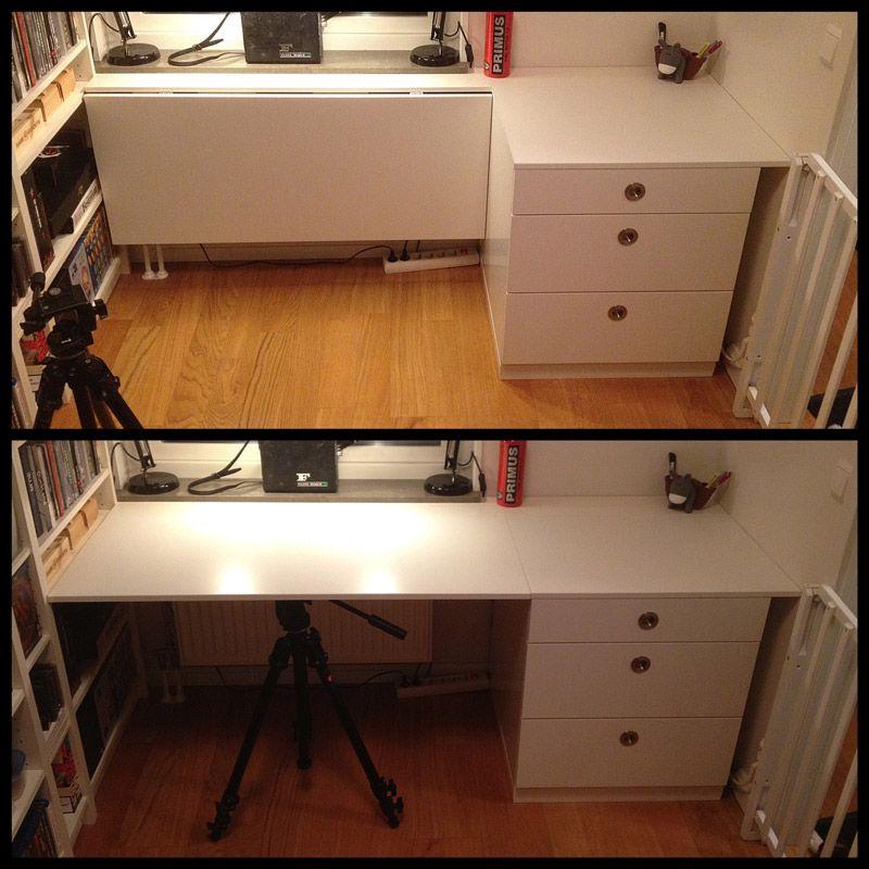 The Foldable Udden Desk Ikea Folding Desk Ikea Hackers Ikea Desk