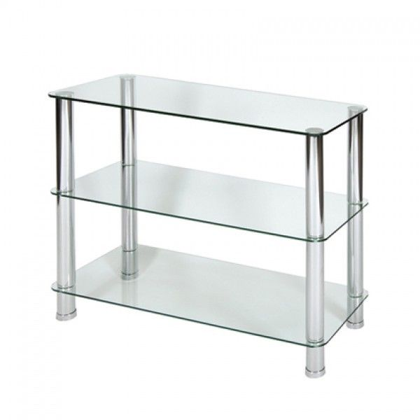 Milano 3 Tier Clear Glass Shelving Unit With Chrome Legs. An Excellent  Value Product Designed To Meet All Your Shelving Needs At A Knockout Price,  ...