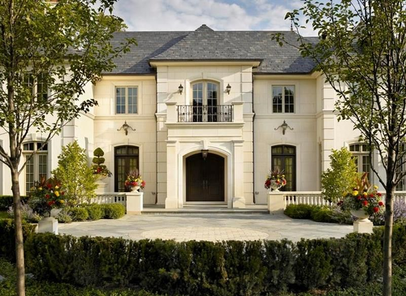 Exterior Done In Valder Stone And Stucco French Country House