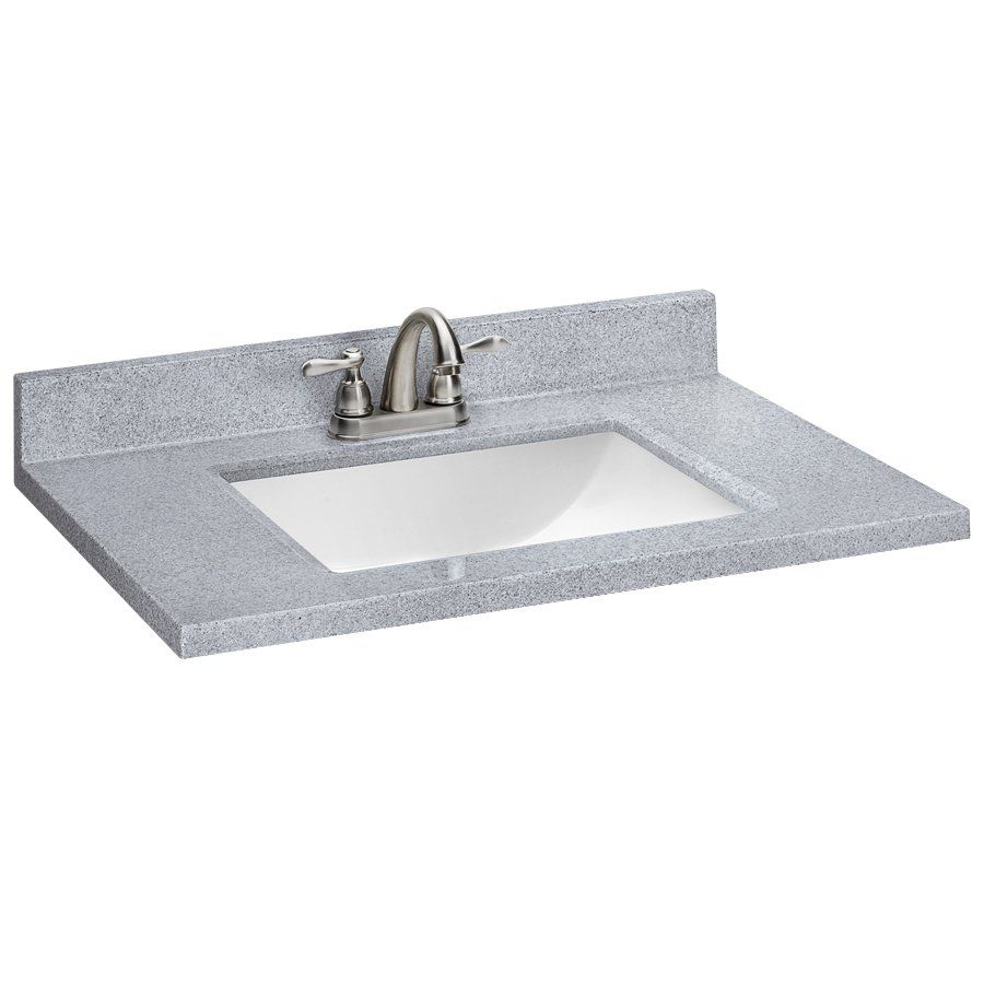 style selections sq2 pepper solid surface single sink vanity top