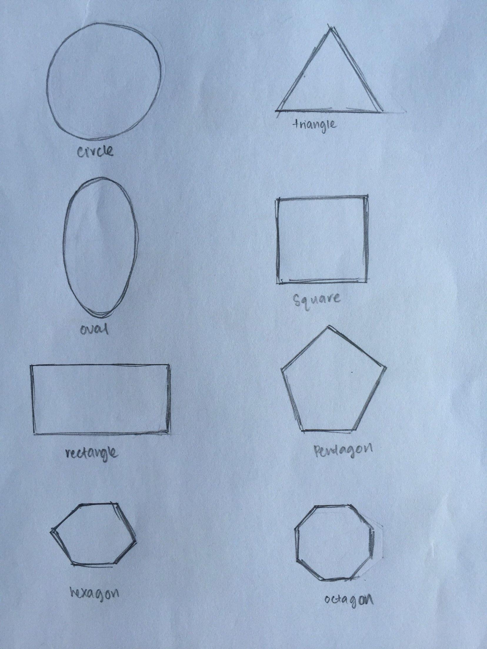 Triangle Rectangle Circle Oval Square