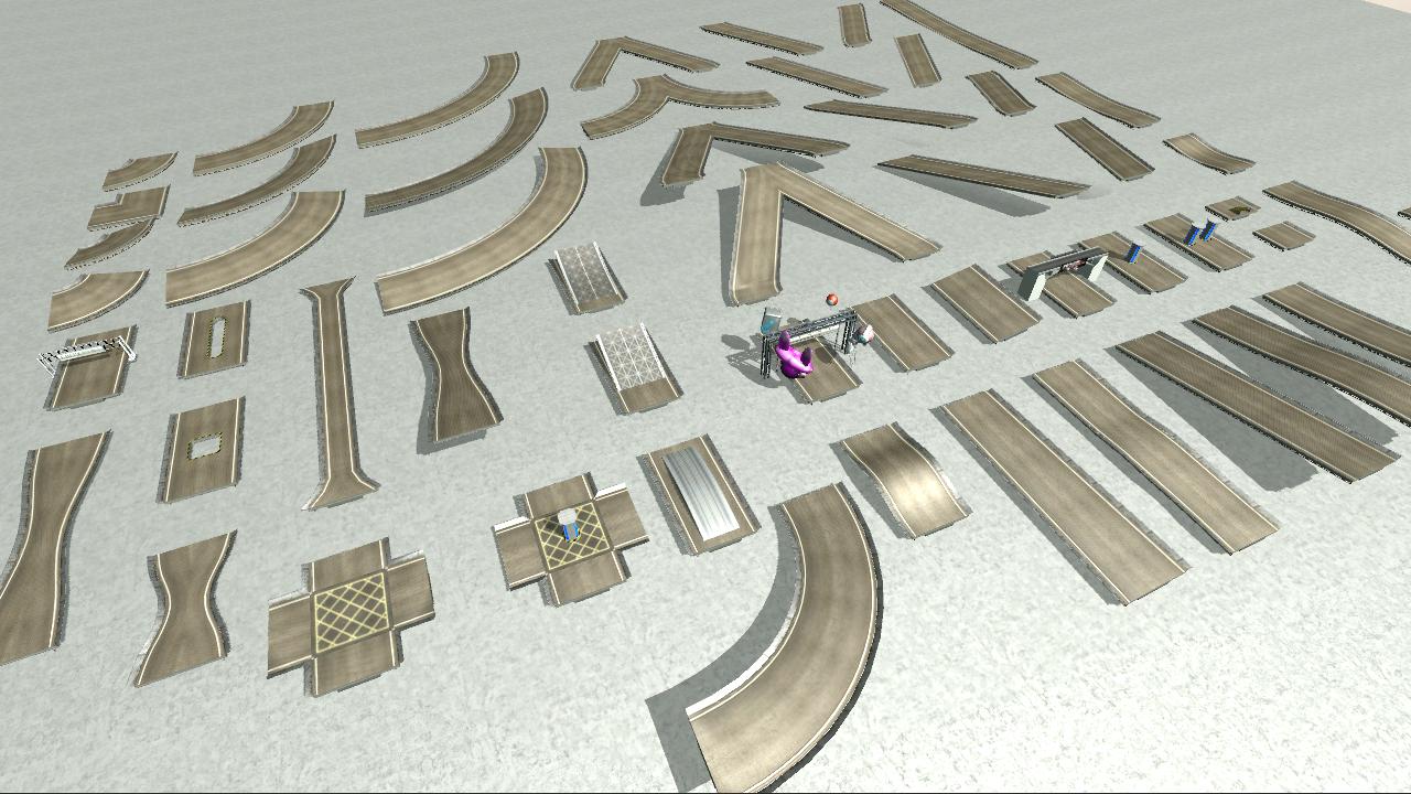 Game Ready Modular Stunt Race Track Kit Trax Racing Race Track