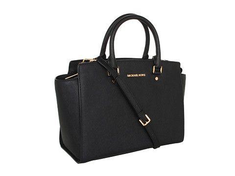 Work Bag: MICHAEL Michael Kors Selma Large TZ Satchel Tan - Zappos ...