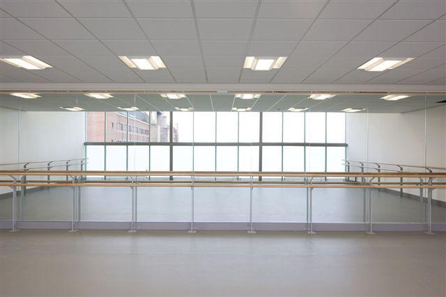 Dance Studio Mirror Ballet Barres Glass Installation Ballet Studio Mirror Room