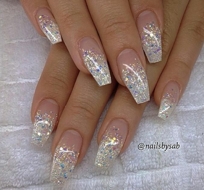 Pinterest Newwaves Ombre Acrylic Nails Ombre Nails Glitter Nail Designs