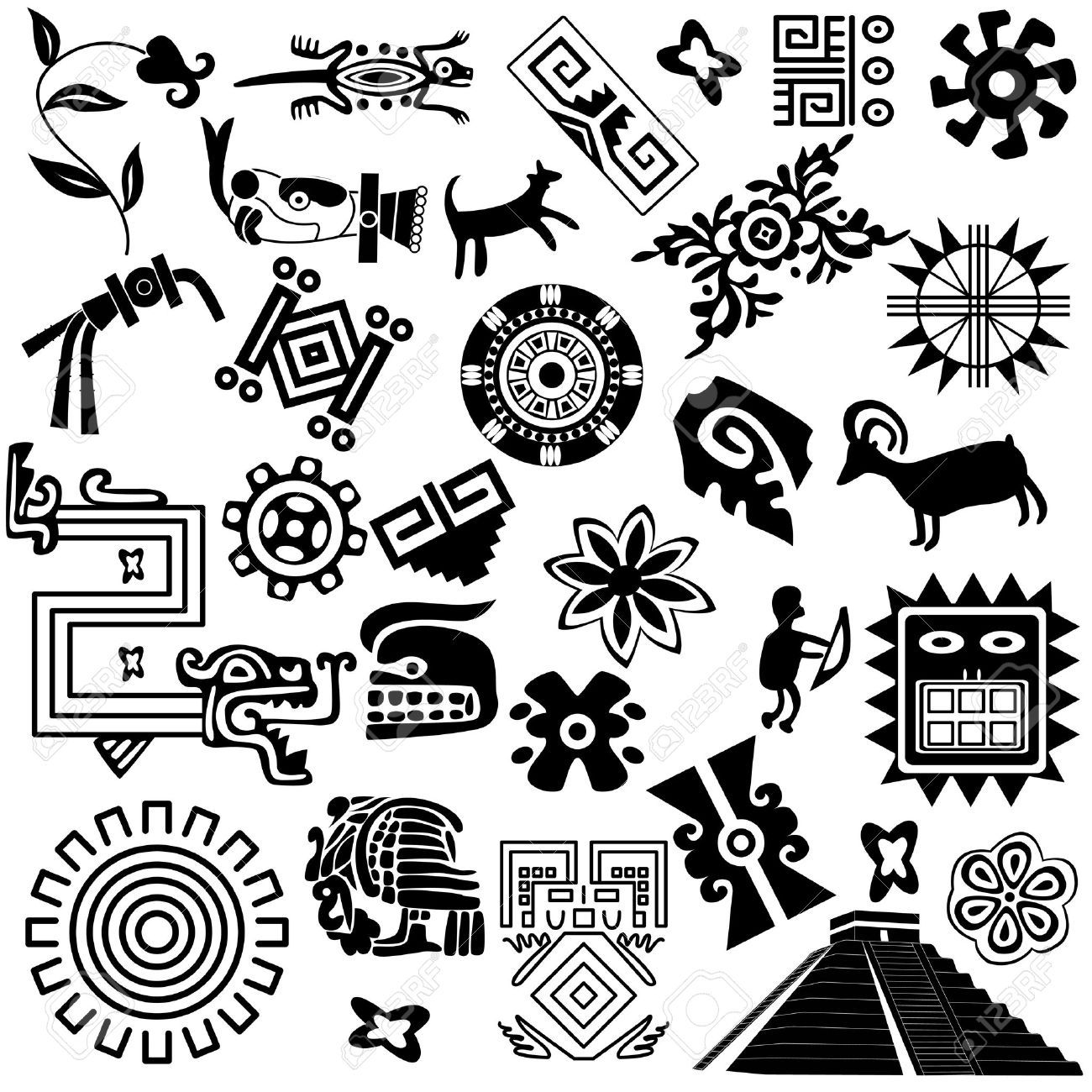 Dioses mayas imgenes de archivo vectores dioses mayas fotos buy ancient american design elements by on graphicriver vector of ancient american design elements on white package contains eps version jpg pixels buycottarizona
