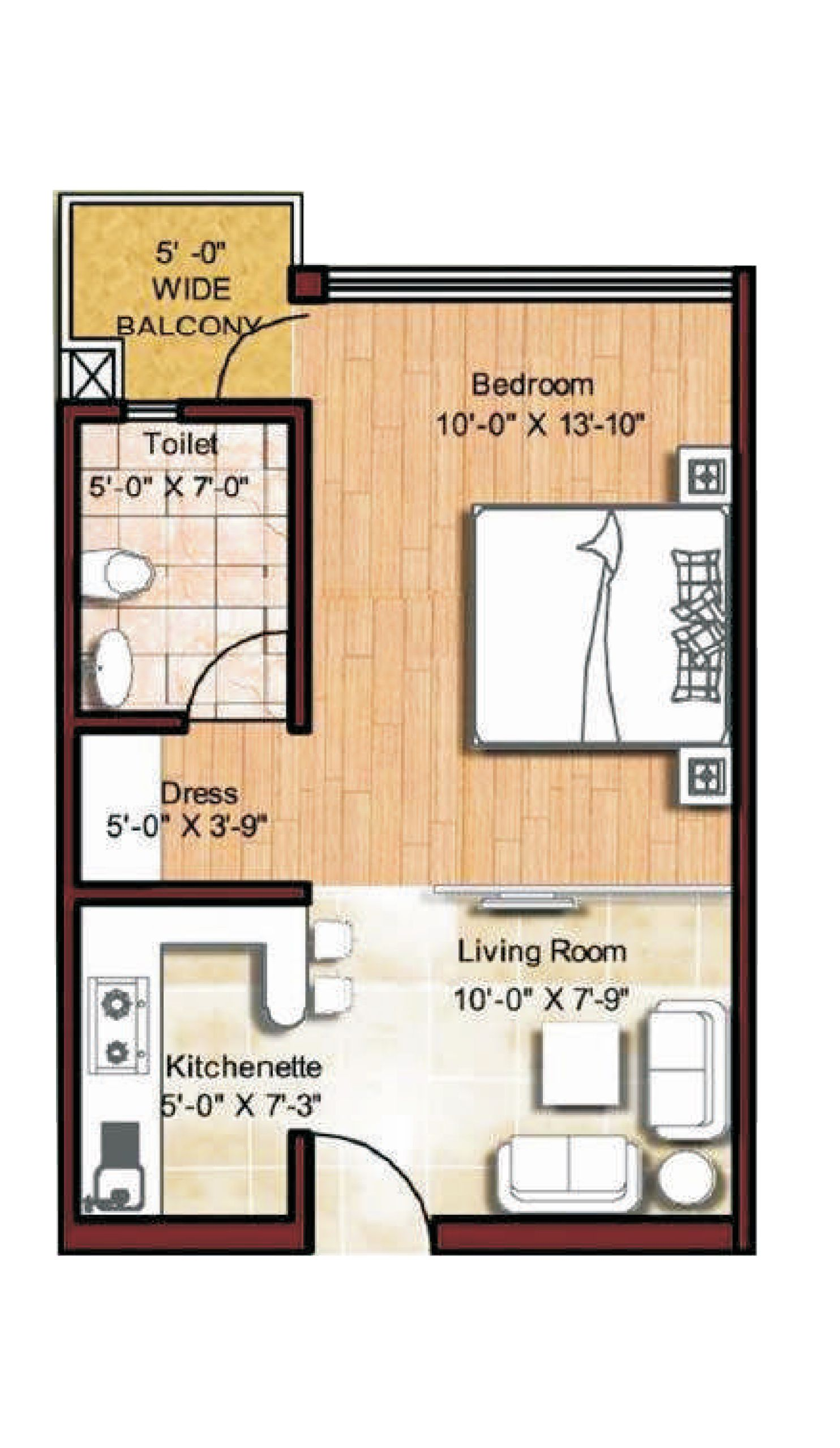 Micro apartments floor plans floor plan tiny spaces for Efficiency apartment floor plans