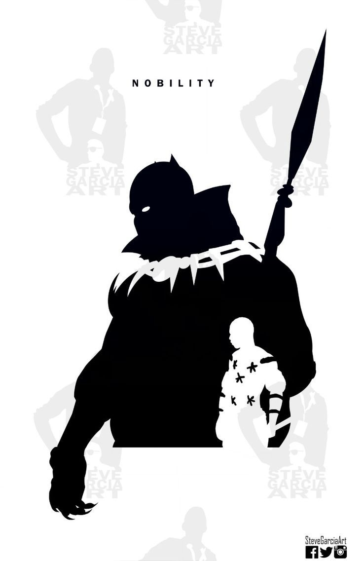 Steve Garcia Silhouette Black Panther Buscar Con Google Black Panther Marvel Black Comics Marvel
