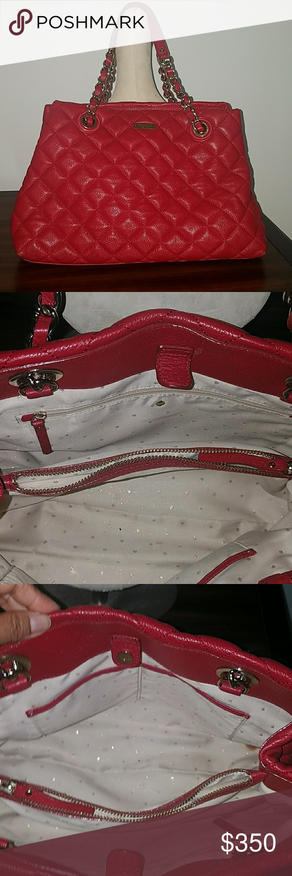 Kate Spade Quilted Red Handbag