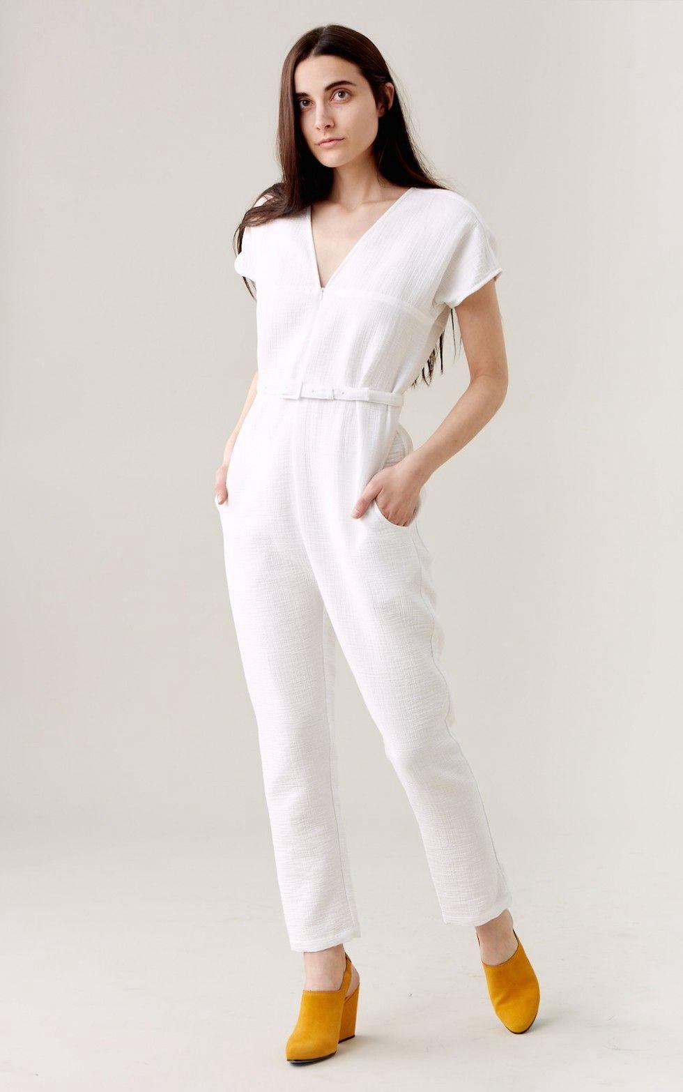 45dddddcfc57 RACHEL COMEY Glinda Jumpsuit - White.  rachelcomey  cloth
