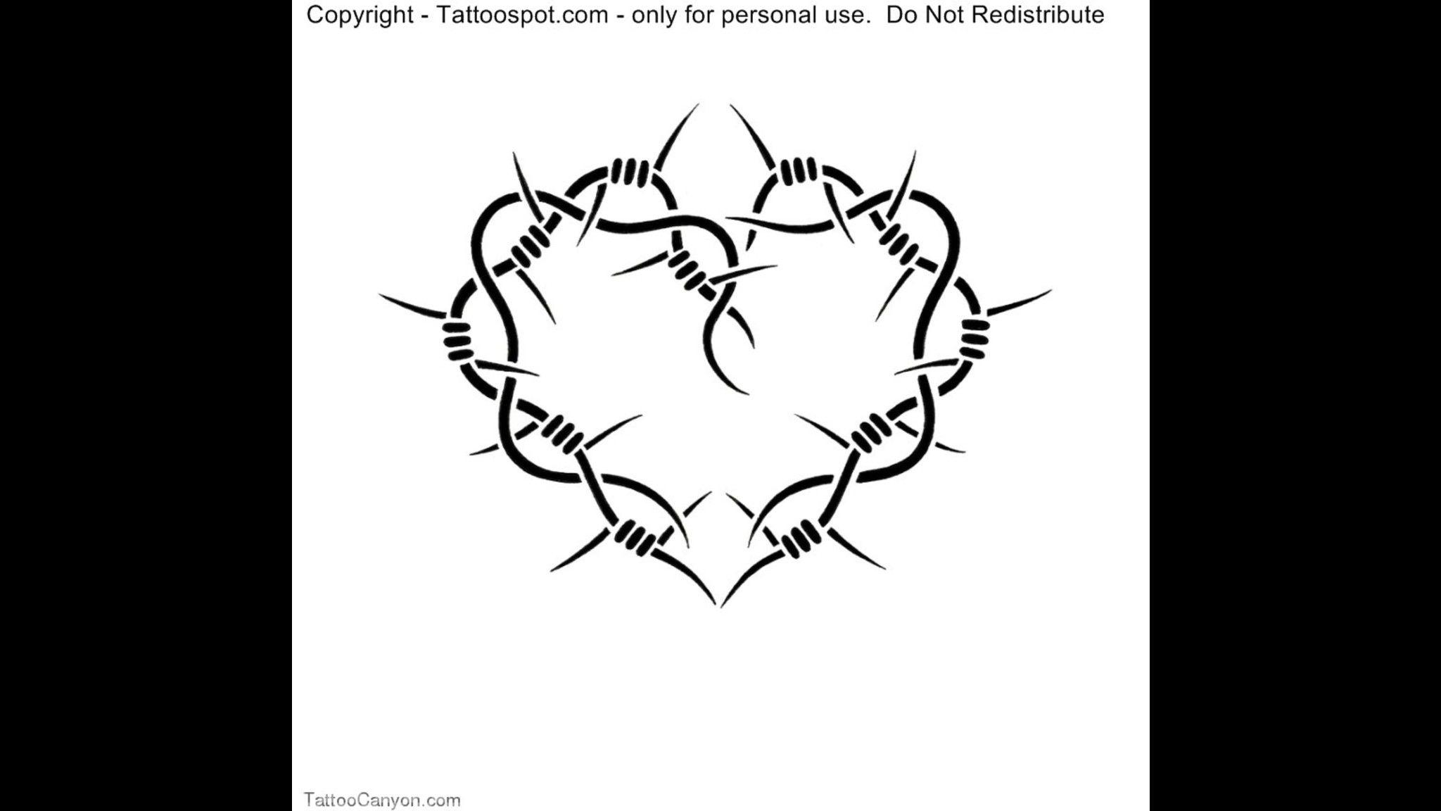 barbed wire design extra 1 barb tattoo designs free tattoo design ...