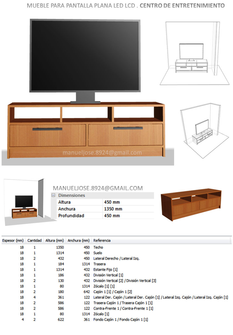 Dise o de muebles madera dise os construir mueble para for Diseno de muebles de madera