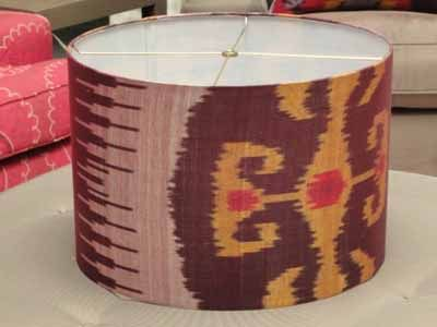 Ikat pattern geometric ornament lampshades let there be light ikat lampshade fabric by bermingham mozeypictures Image collections