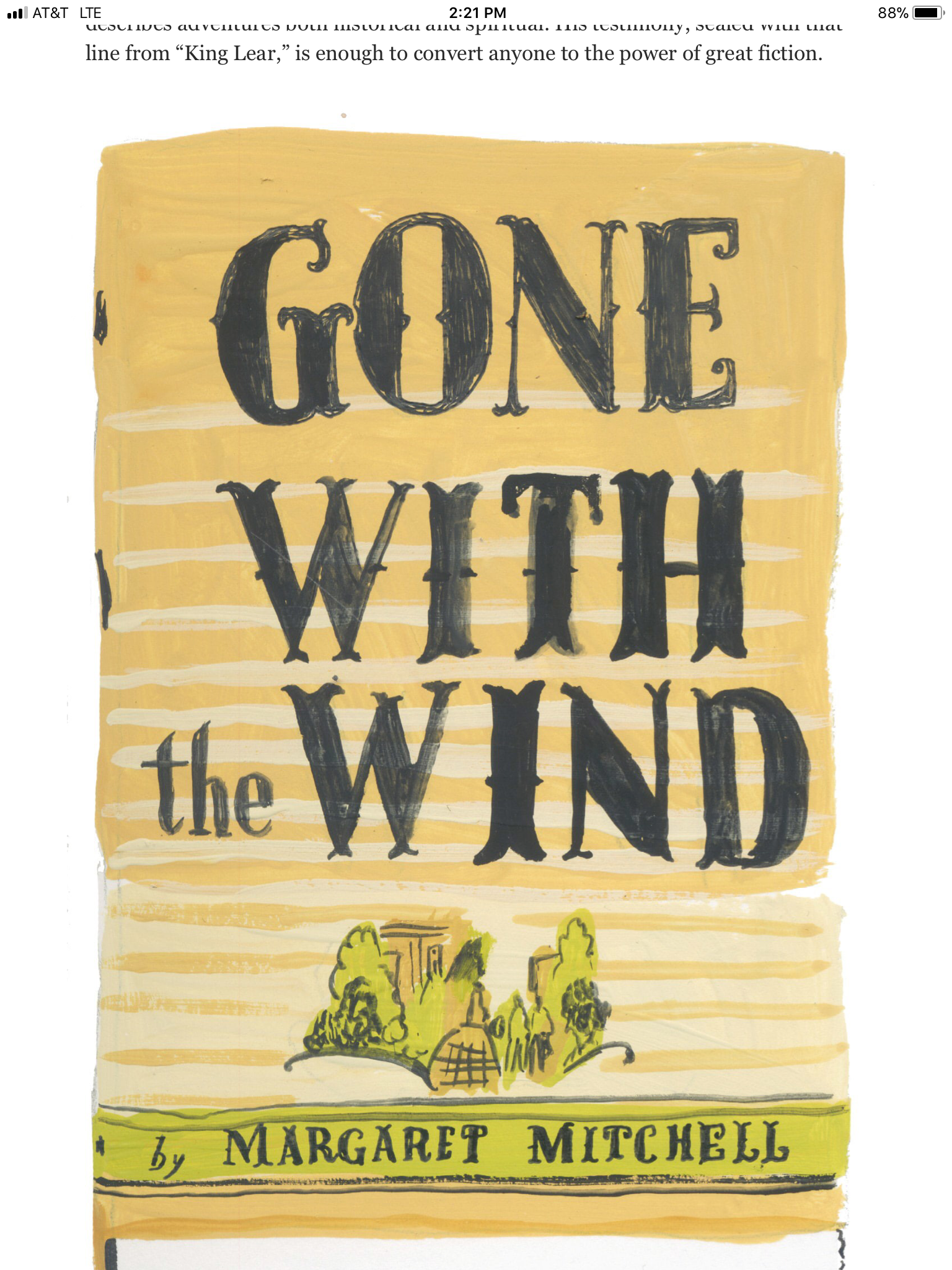 From The Washington Post 03 11 19 The 23 Most Unforgettable Final Lines In Fiction By Ron Charles Artist Julia R Fiction Graphic Design Gone With The Wind