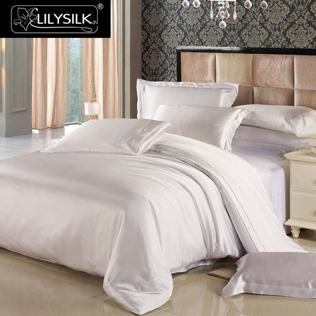 Lilysilk 100 Pure Mulberry Silk Duvet Cover 19mm Seamless Solid Color Twin Full Queen King Size Free Shipping Products Pinterest