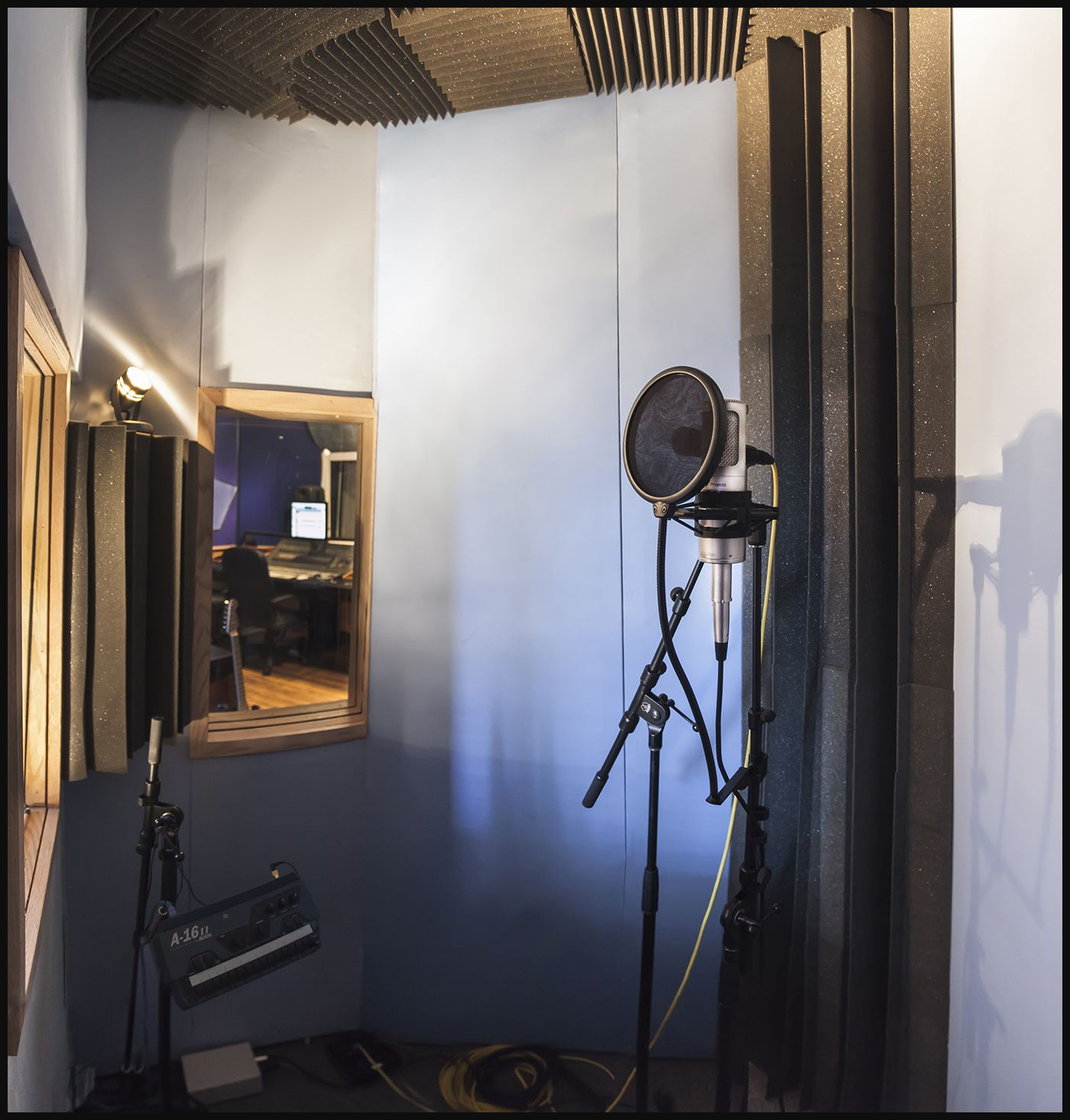 vocal booth inside asp studio production pinterest